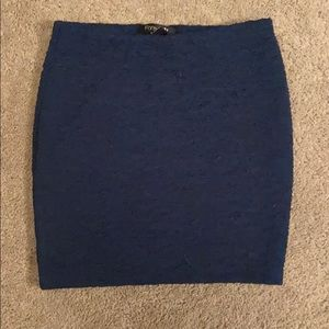 Forever 21 teal body con mini skirt
